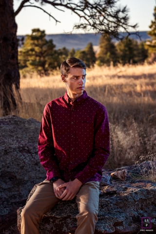 Boulder, Colorado outtake from a teen boy's senior session