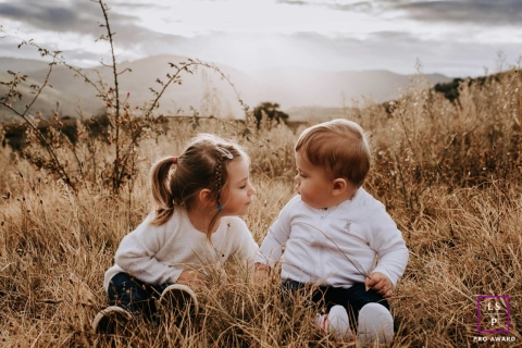Auvergne-Rhone-Alpes, France lifestyle photography | toddler cousins