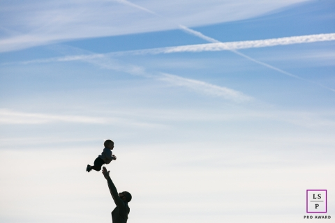 France mom tossing baby high | Lifestyle Photography