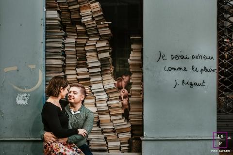 10th wedding anniversary portrait session in Paris