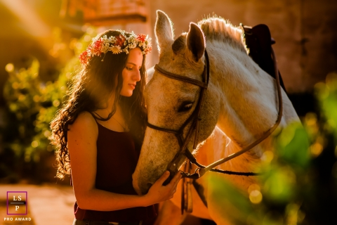MG Teen Portrait of a young woman with a horse
