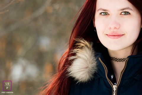 Savoie lifestyle photography from Auvergne-Rhone-Alpes with a Teenager with red hair