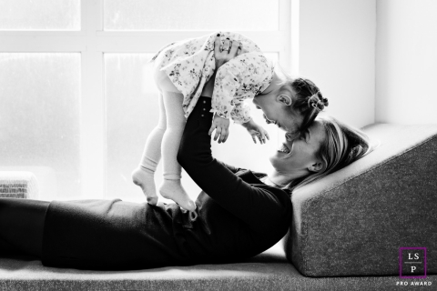 Marseille mother and daughter so happy together during this France lifestyle photo shoot