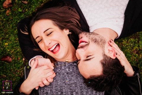 Auvergne-Rhone-Alpes Creative Lifestyle Portrait image of a couple sharing a minute together lying on the floor
