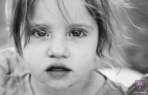 Herault Creative black and white lifestyle child portrait