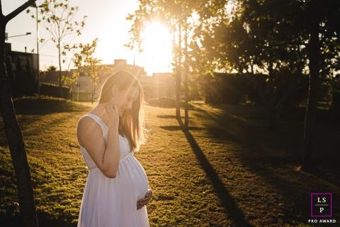 Artístico Mato Grosso do Sul Fotografia estilo de vida de uma mãe grávida Esperando seu bebê