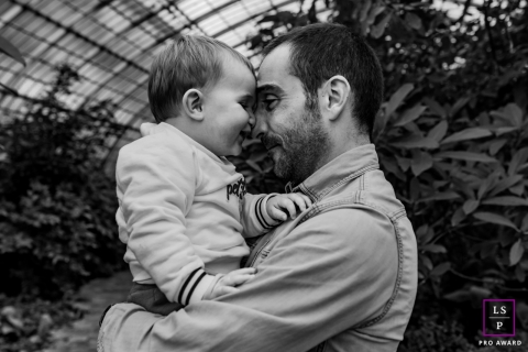 Doubs Lifestyle Photographer created this artistic father and son portrait