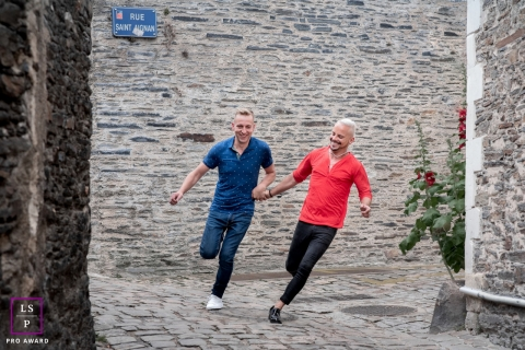 This is a lifestyle picture from Pays de la Loire of the run Together towards the future and the assignment of commitment
