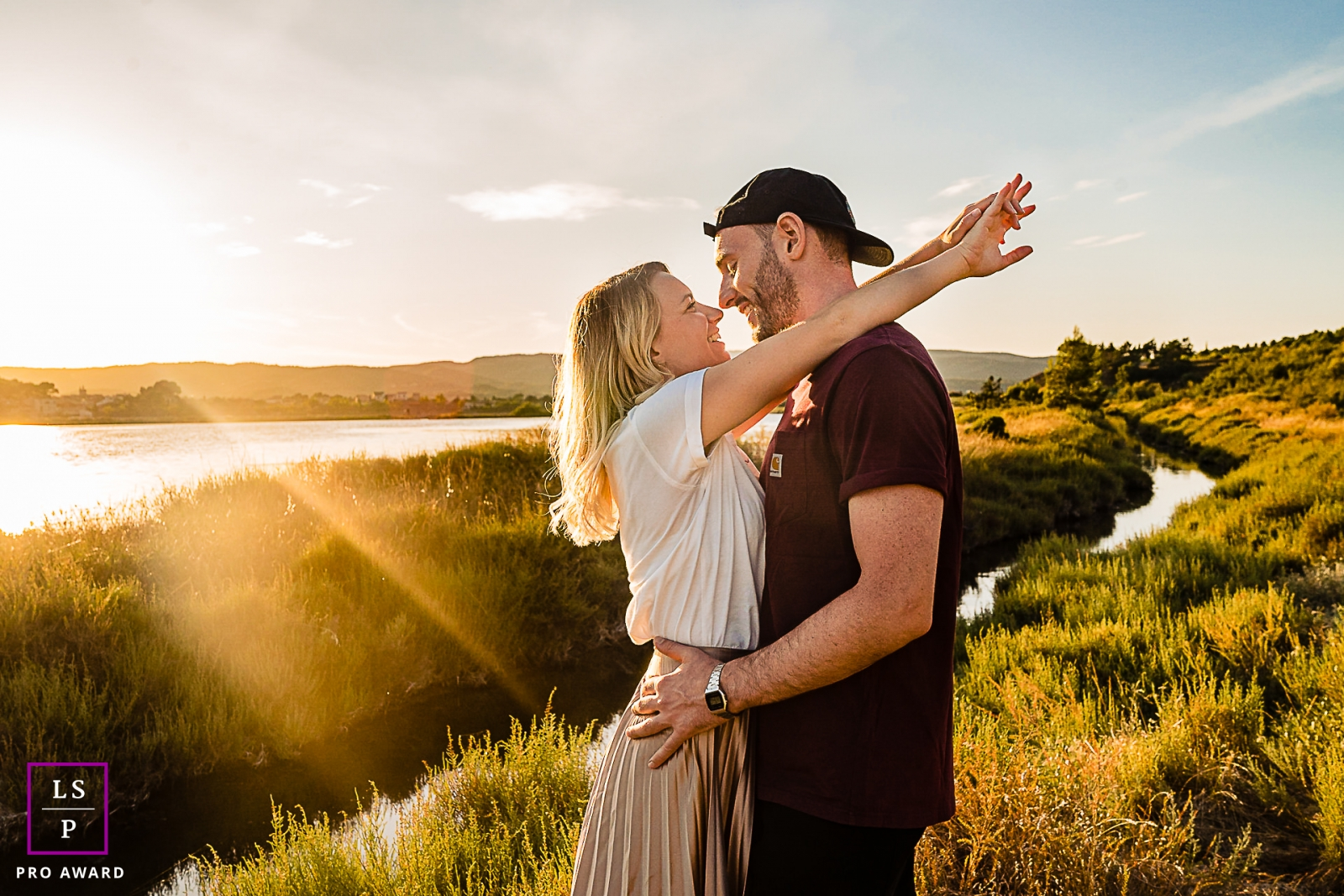 Perpignan Pyrenees-Orientales lifestyle couple photography session during sunset