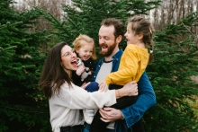 Doubs Creative Lifestyle Portrait image of a happy family together