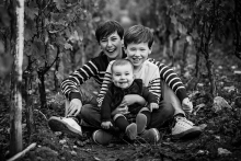 Artistic Bourgogne-Franche-Comte Lifestyle Family Photography with two young boys with mom