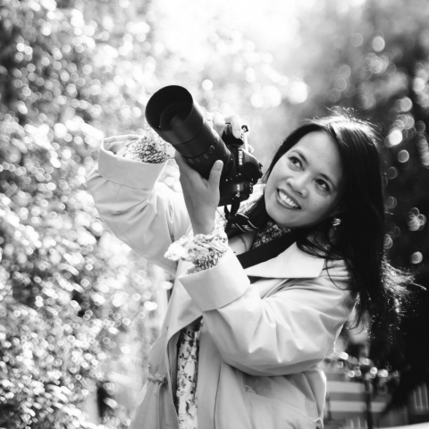 Outdoor portrait of Netherlands lifestyle photographer Hai Anh Nguyen