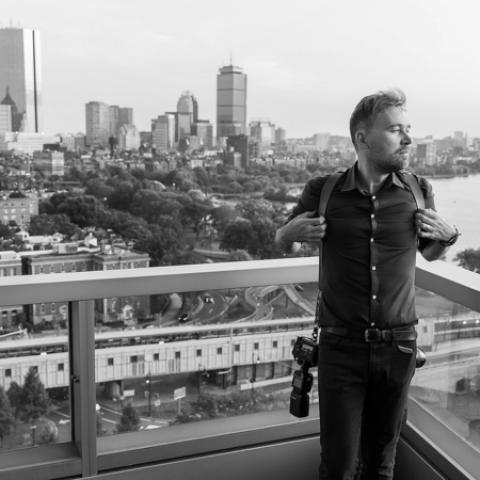 Portrait of Alex Gordeev, Boston MA Lifestyle Photographer