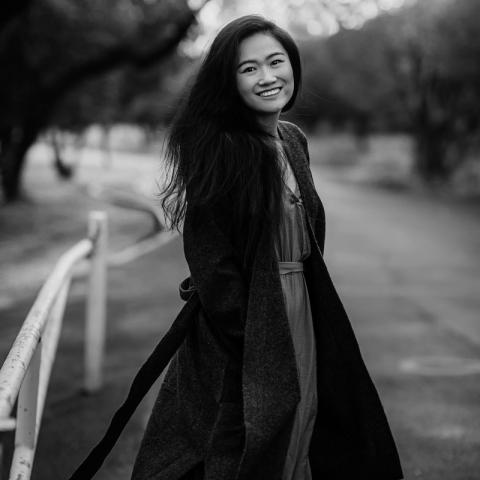 Outdoor image of Austin lifestyle portrait photographer Lulu Gao of Texas